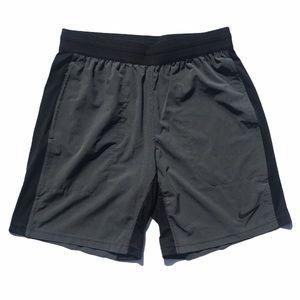 Nike Men's Gray/Black Dri-Fit Athletic Shorts